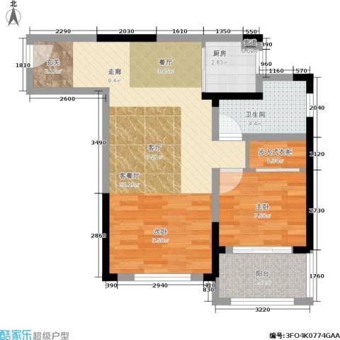 乐客来国际商业中心1室1厅1卫1厨62.00㎡户型图