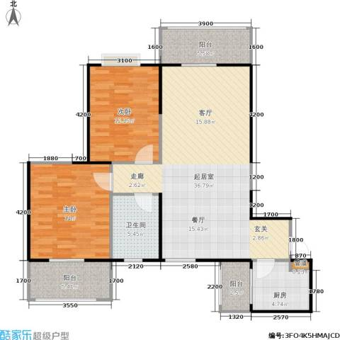 海�新天2室0厅1卫1厨114.00㎡户型图