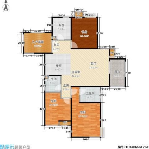 长安壹品3室0厅2卫1厨133.00㎡户型图