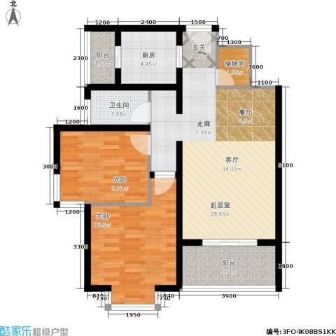 国际幸福城2室0厅1卫1厨98.00㎡户型图