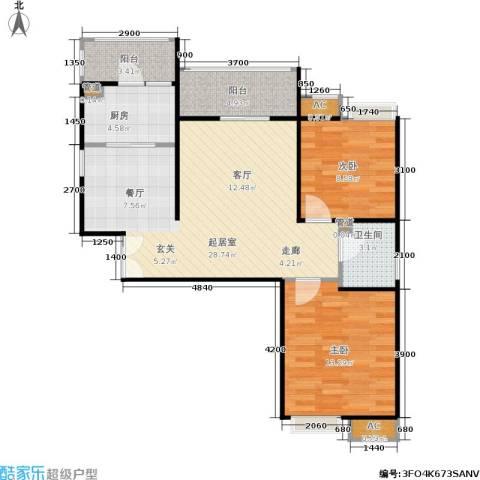 长安壹品2室0厅1卫1厨87.00㎡户型图