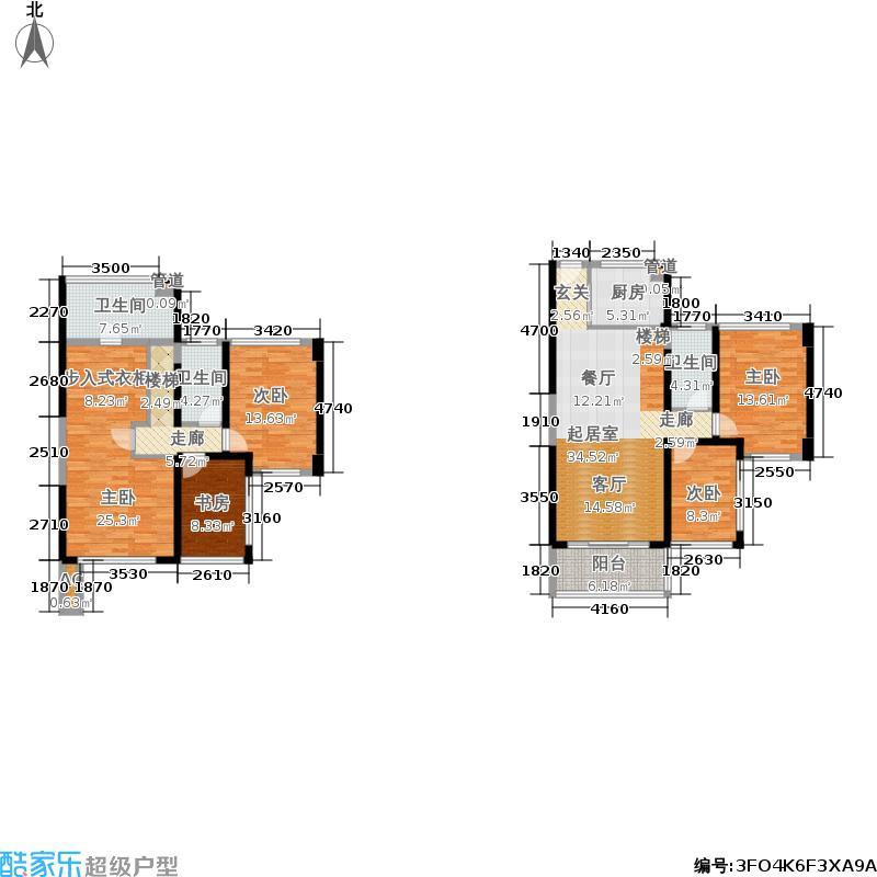 绿景香颂125.00㎡绿景香颂户型图D型D座5房2厅3卫125平方米(15/16张)户型5室2厅3卫