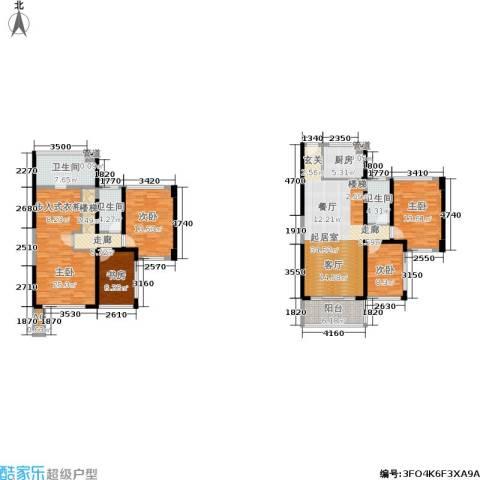绿景香颂5室0厅3卫1厨137.90㎡户型图