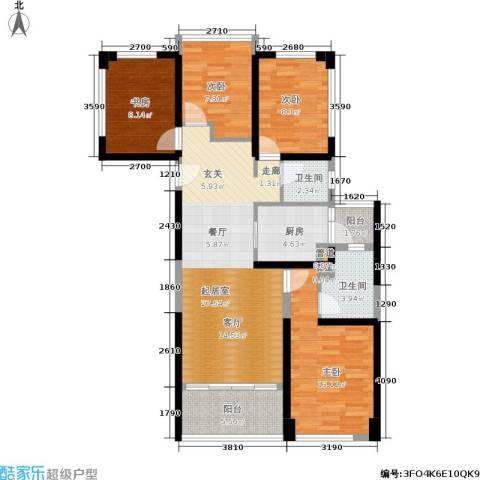 绿景香颂4室0厅2卫1厨89.00㎡户型图