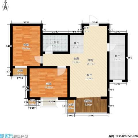 景祥苑2室2厅1卫0厨86.00㎡户型图