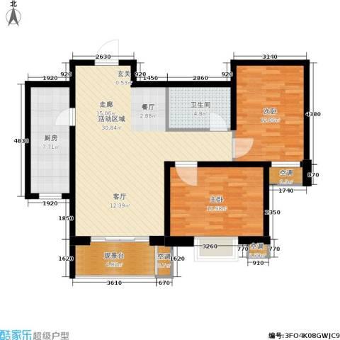 景祥苑2室0厅1卫1厨86.00㎡户型图