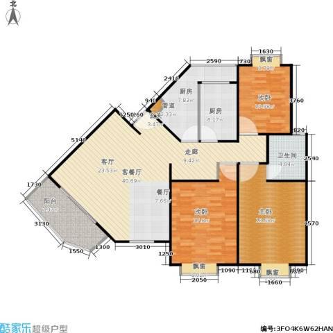 平盛苑3室1厅1卫2厨123.00㎡户型图