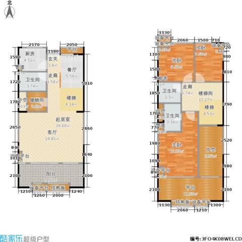 紫薇尚层3室0厅3卫1厨137.59㎡户型图
