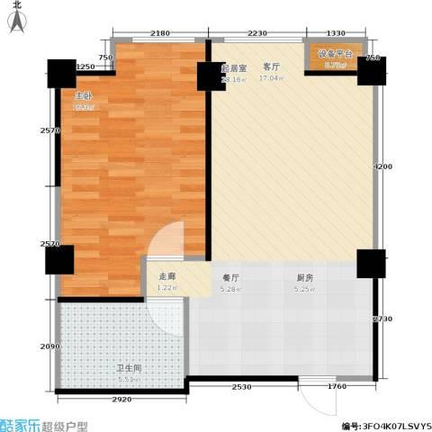 水木华庭1室0厅1卫0厨63.00㎡户型图