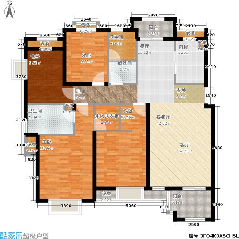 郡原居里户型4室1厅2卫1厨