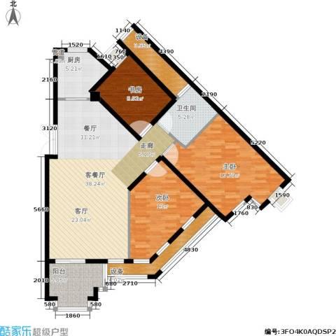 郡原居里3室1厅1卫1厨146.00㎡户型图