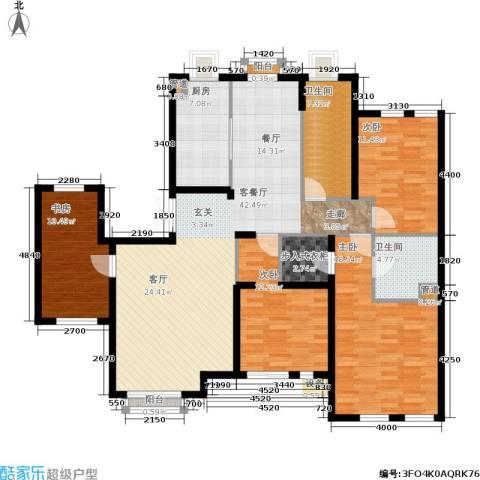 郡原居里4室1厅2卫1厨168.00㎡户型图
