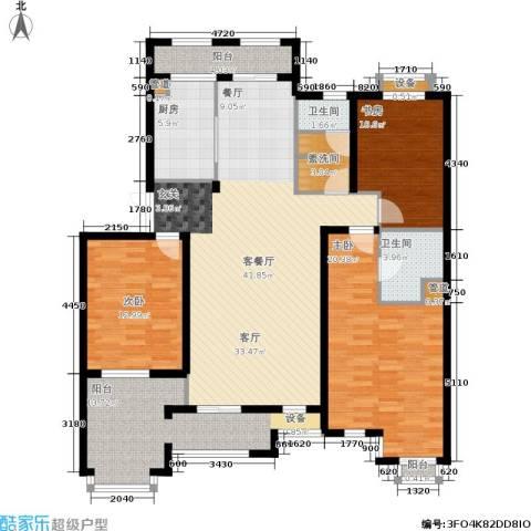 郡原居里3室1厅2卫1厨137.00㎡户型图