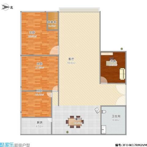 腾龙雅苑4室1厅1卫1厨201.00㎡户型图