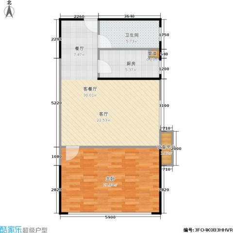 人瑞潇湘国际1室1厅1卫1厨83.00㎡户型图