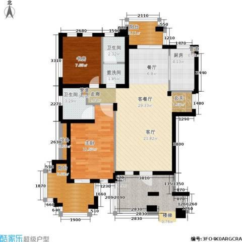 郡原居里2室1厅2卫1厨102.00㎡户型图