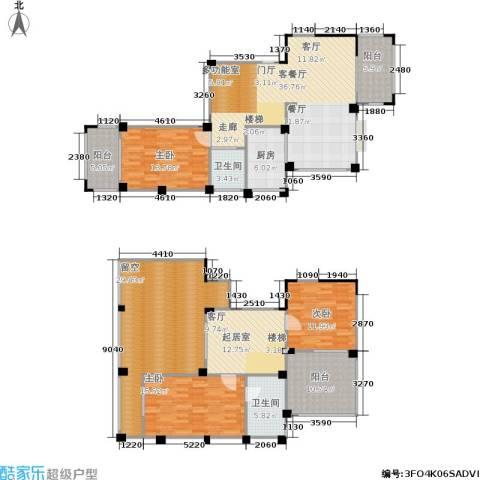 五里汉城3室1厅2卫1厨169.97㎡户型图
