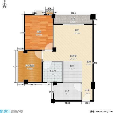 滨江怡畅园1室0厅1卫1厨90.00㎡户型图
