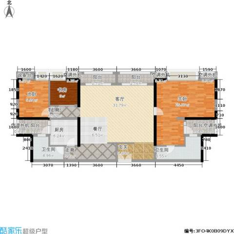 嘉宝华庭3室1厅2卫1厨161.00㎡户型图