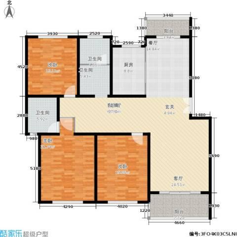 贝越流明新苑3室1厅2卫1厨170.00㎡户型图