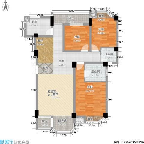 山水庭院3室0厅2卫1厨117.00㎡户型图