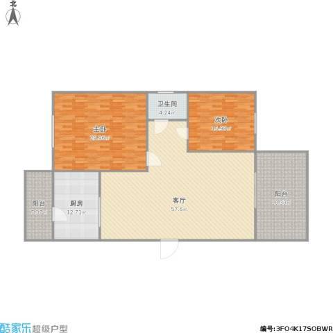 逸港花园2室1厅1卫1厨192.00㎡户型图