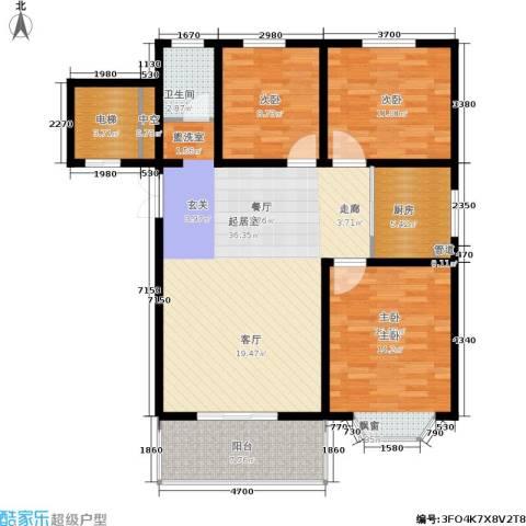 都江新城3室0厅1卫1厨97.00㎡户型图