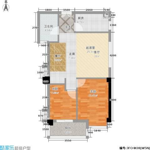 山水庭院2室0厅1卫1厨78.00㎡户型图