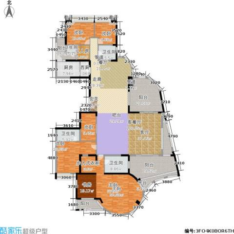 世纪绿洲5室1厅4卫1厨350.00㎡户型图