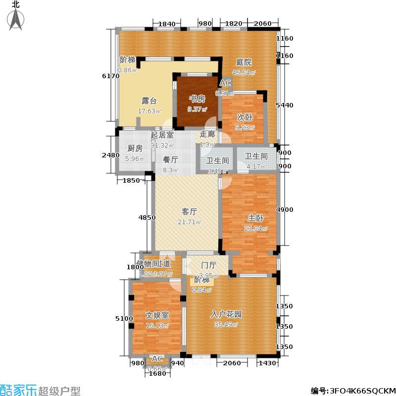 中国诺贝尔城100.00㎡南入户退台花园洋房一层HN-A1户型