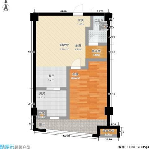 印象天心1室1厅1卫1厨75.00㎡户型图