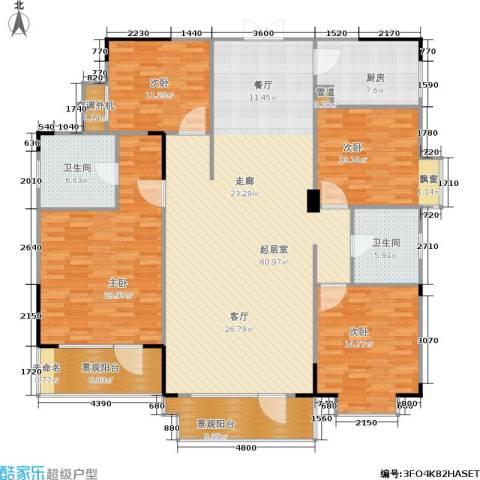 岳麓现代城4室0厅2卫1厨170.00㎡户型图