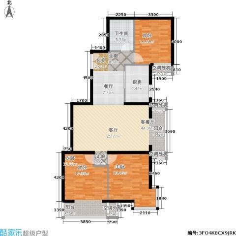 朝阳雅筑3室1厅1卫1厨135.00㎡户型图
