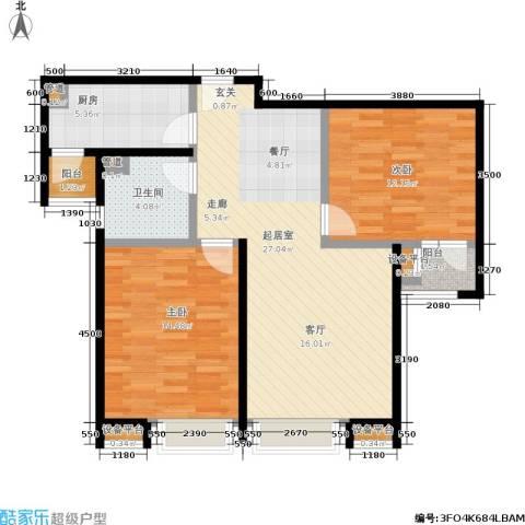 8哩岛2室0厅1卫1厨89.00㎡户型图