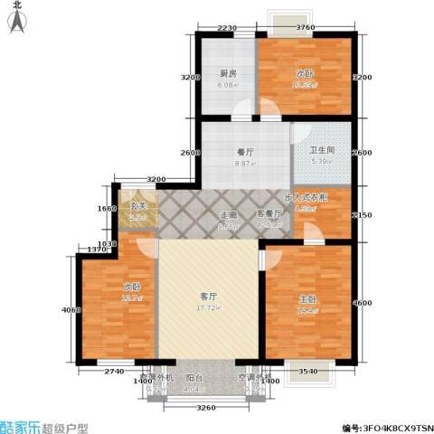 朝阳雅筑3室1厅1卫1厨134.00㎡户型图