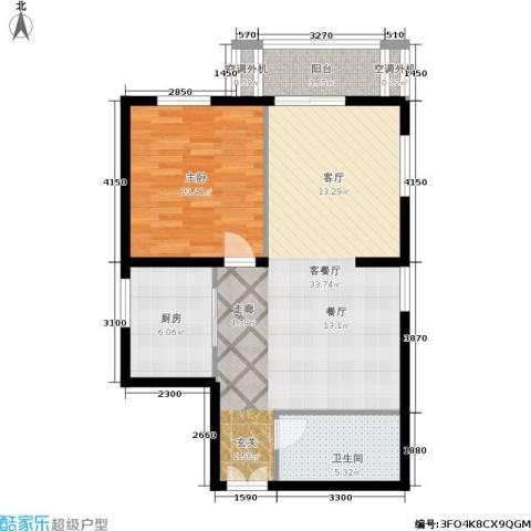 朝阳雅筑1室1厅1卫1厨84.00㎡户型图