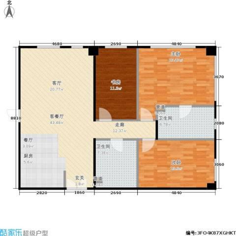 朝外MEN3室1厅2卫0厨134.00㎡户型图