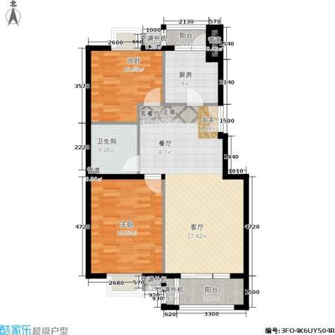 上海沙龙2室1厅1卫1厨93.00㎡户型图