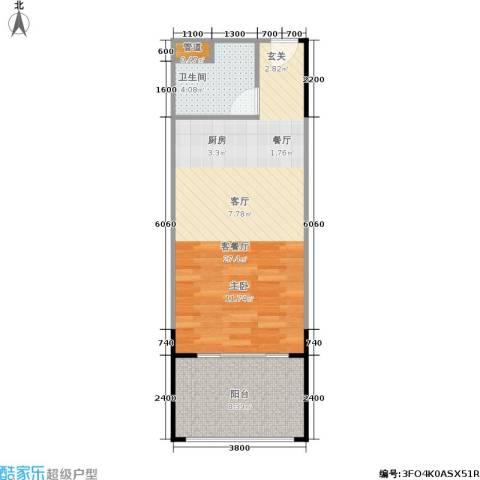 人瑞潇湘国际1厅1卫0厨48.00㎡户型图