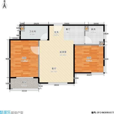 酷特区2室0厅1卫1厨84.00㎡户型图