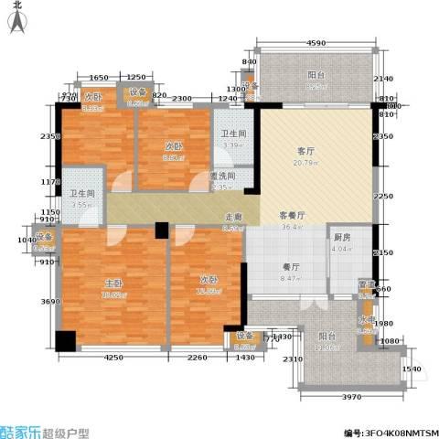 红区抽屉4室1厅2卫1厨135.00㎡户型图