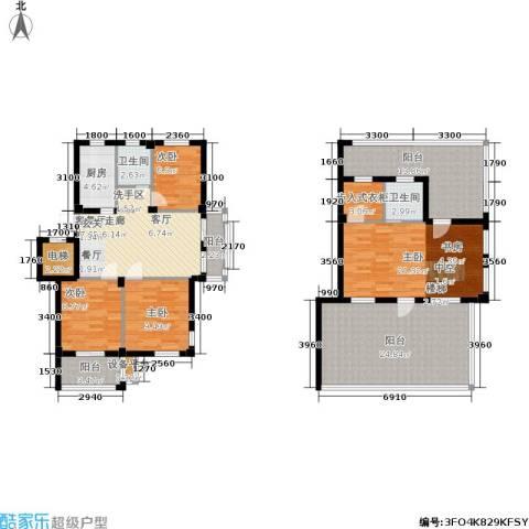 君悦龙庭4室1厅2卫1厨178.00㎡户型图