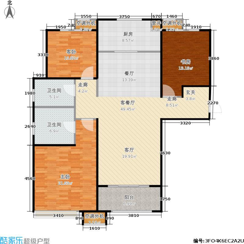 中海国际社区135.00㎡中海国际社区户型图一里城3E户型(2/19张)户型3室2厅2卫