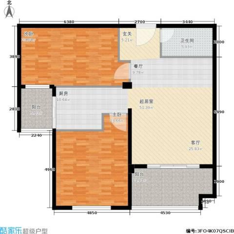 金邸山庄2室0厅1卫0厨135.00㎡户型图