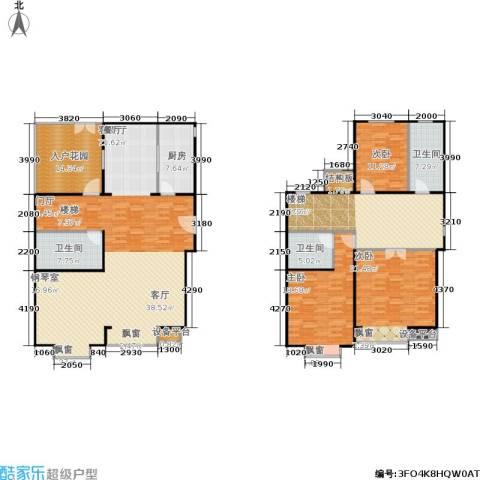 巧克力城3室2厅3卫1厨258.00㎡户型图