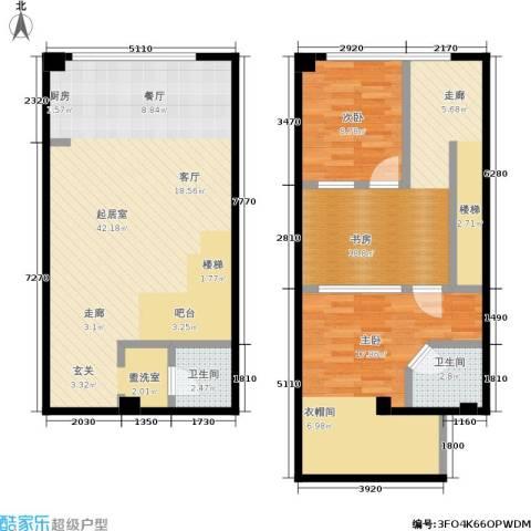 UP生活3室0厅2卫0厨92.94㎡户型图