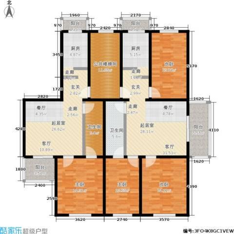 西马庄园4室0厅2卫0厨200.00㎡户型图