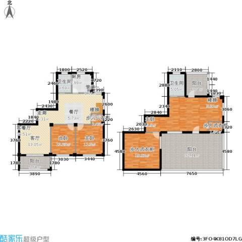君悦龙庭3室1厅2卫1厨188.00㎡户型图