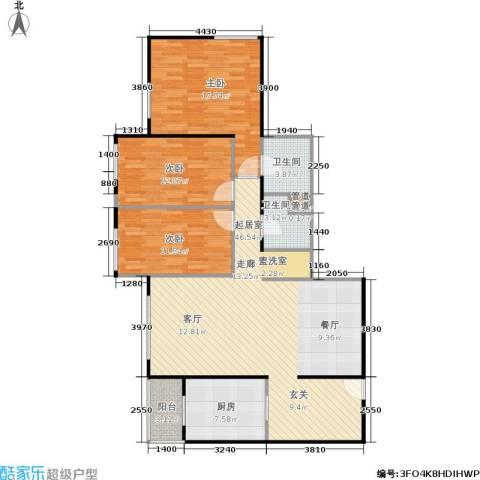 慧谷时空3室0厅2卫1厨114.00㎡户型图