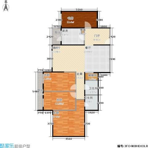 慧谷时空4室1厅2卫1厨127.00㎡户型图